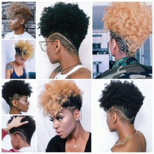 Different types of tapered haircuts for women