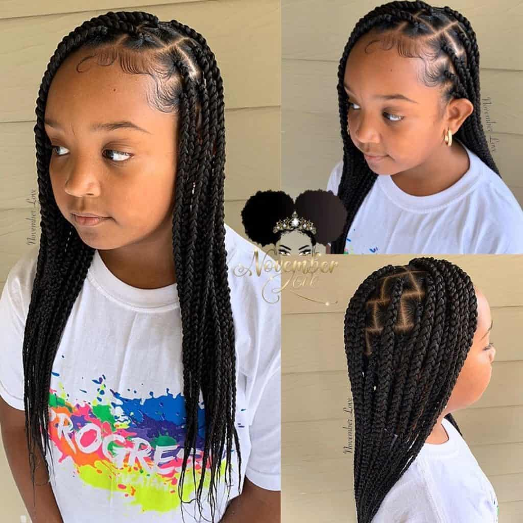 knotless braids for kids