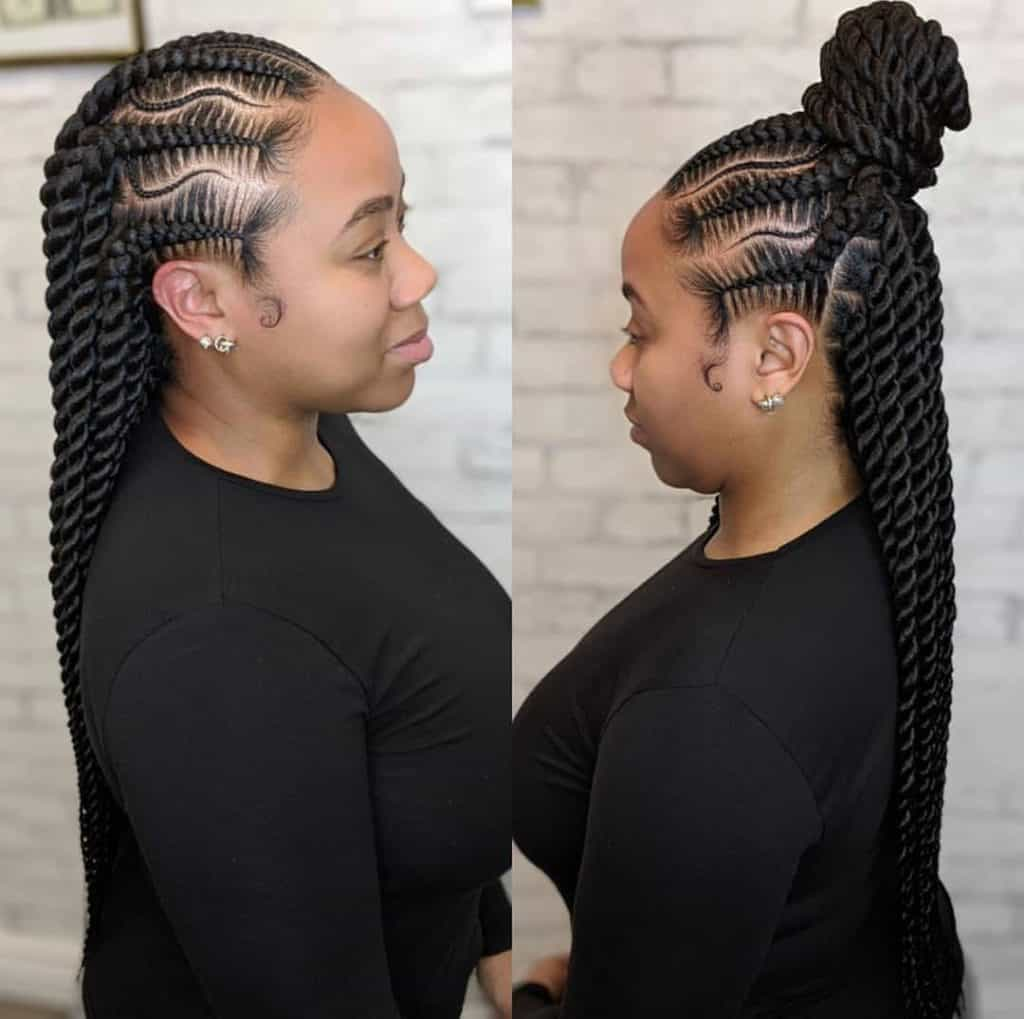 cornrows into senegalese twists