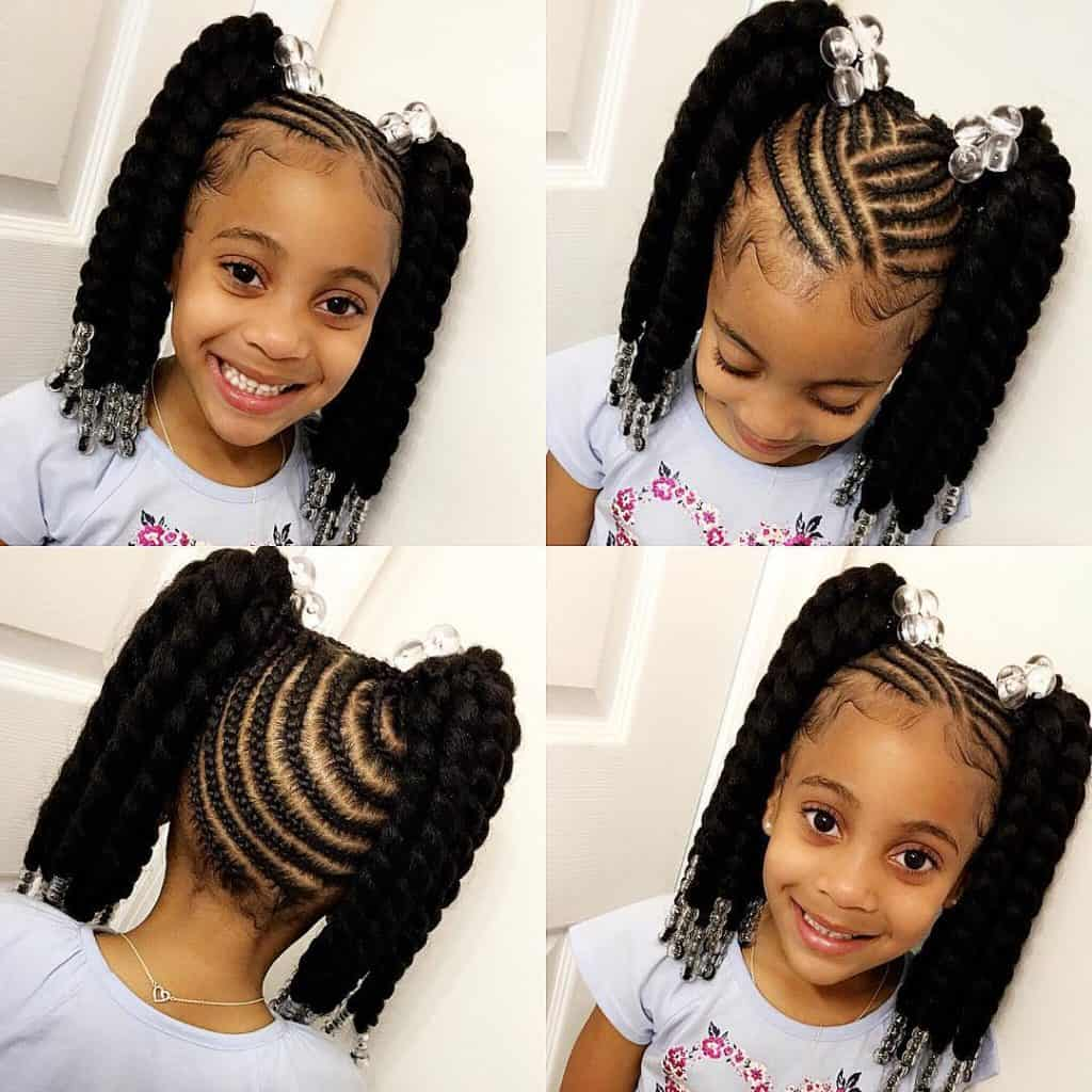 kids braided ponytail