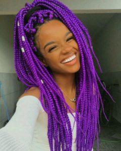 colored box braids