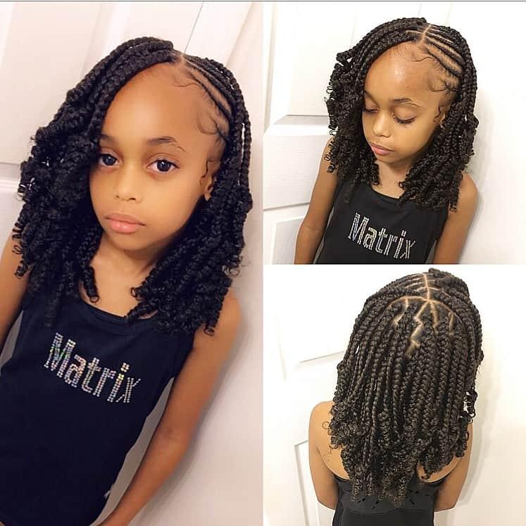 kids fulani braids into box braids