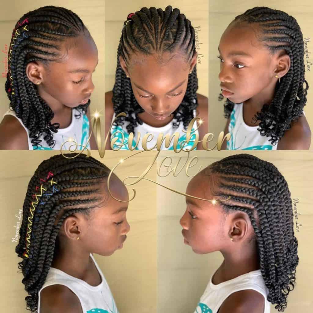 kids tribal braids