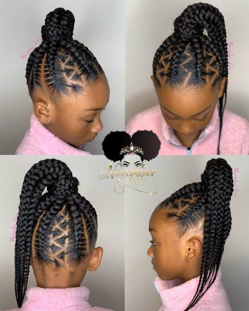 kids stitch in braids