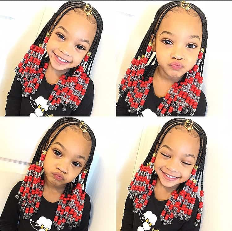 kids braids with beads hairstyle