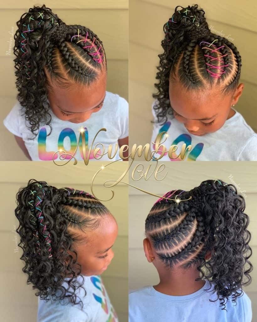 boho large feed in ponytail for kids