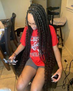 Goddess box braids