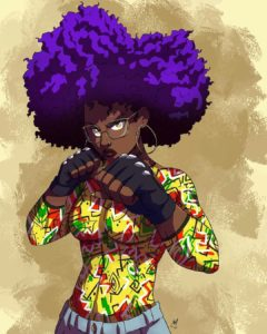 black girl art, black girl illustration