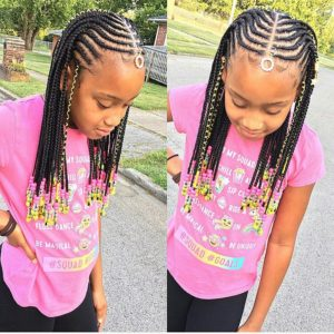 kids braids with beads