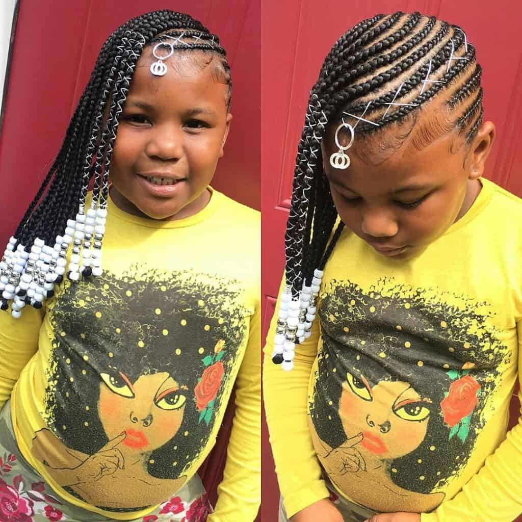 """kids braids with beads hairstyle"