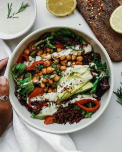 easy vegan chickpea curried salad