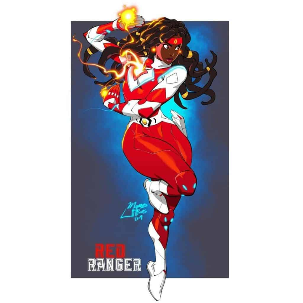 black girl red ranger art