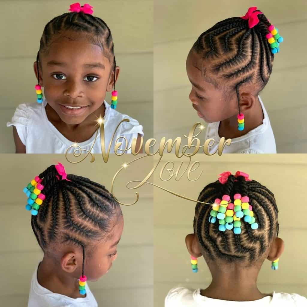 kids braids with beads