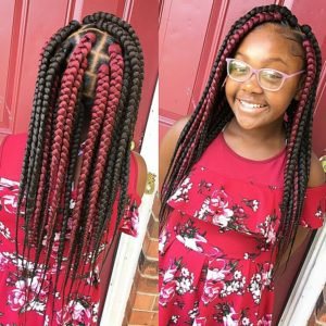 kids box braids jumbo braids