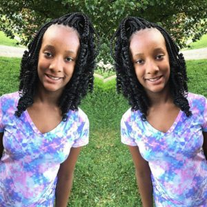 kids curly bob box braids