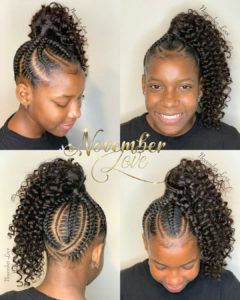 braided hairstyles for kids feed in braids