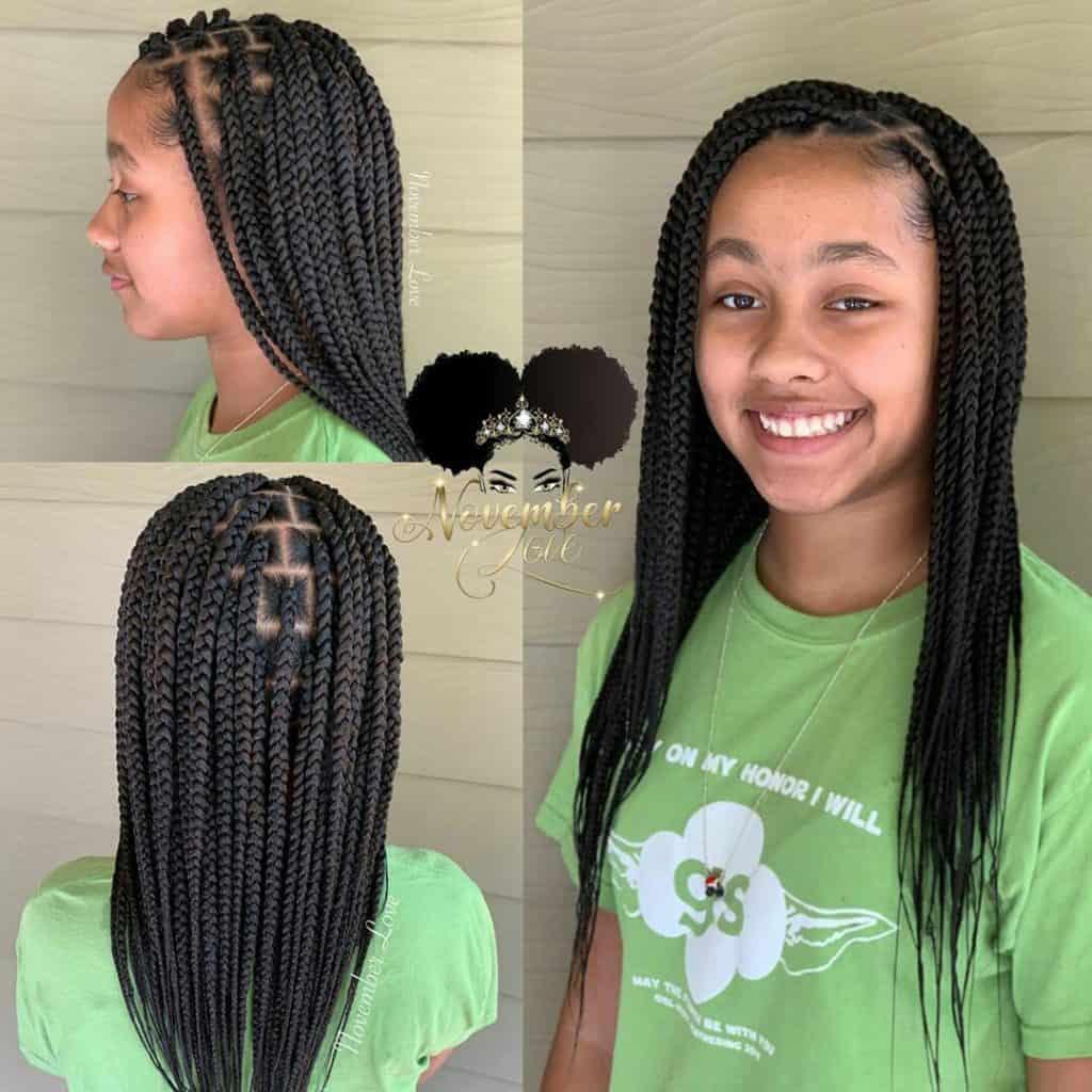 kids knotless box braids
