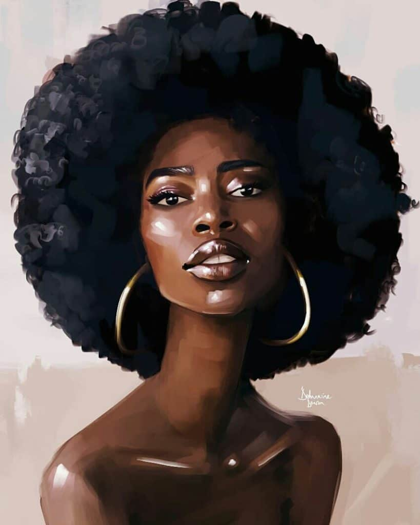 black girl art, black art, digital black art