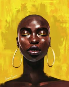 black art, black girl illustration