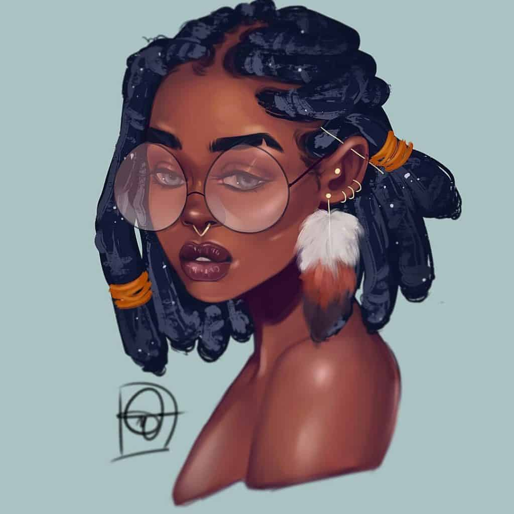 black girl illustration,