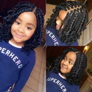 kids bob curly box braids
