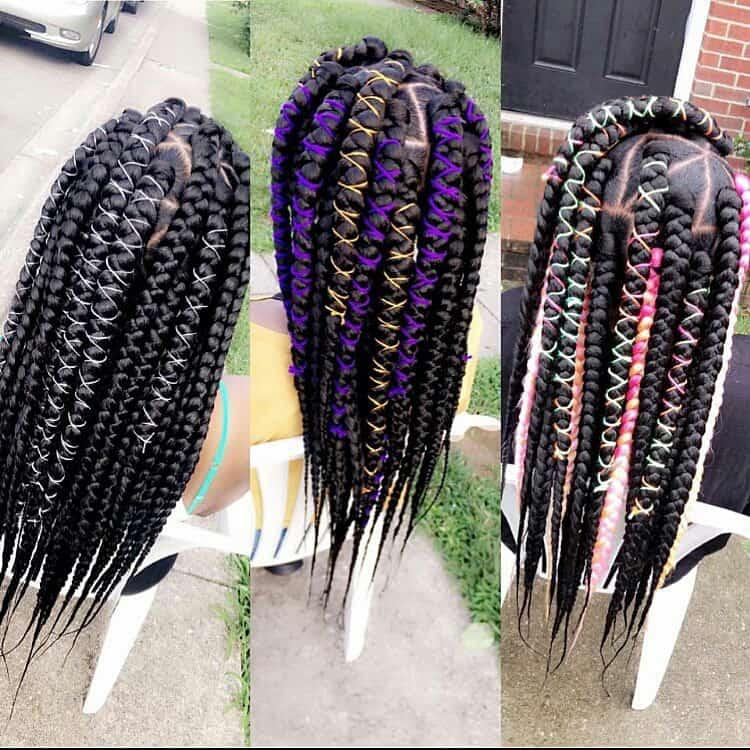 kids box braids jumbo braids