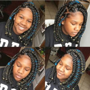 kids box braids bobs