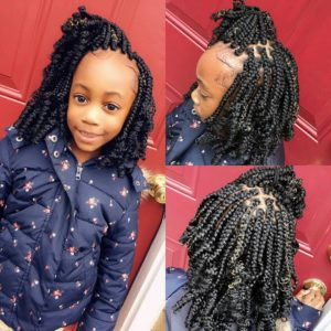 kids curly box braids