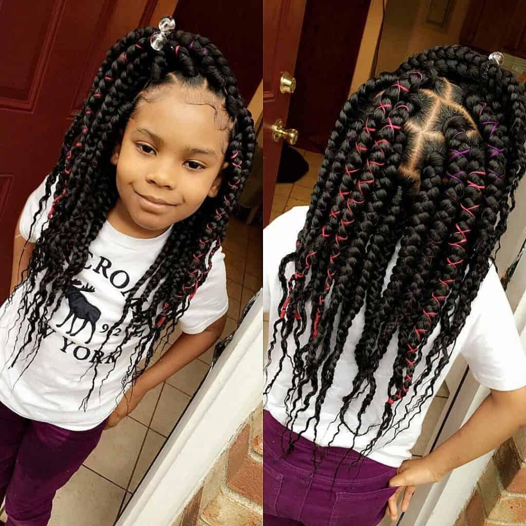 kids large box braids