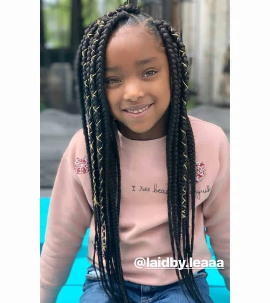 kids box braids with strings