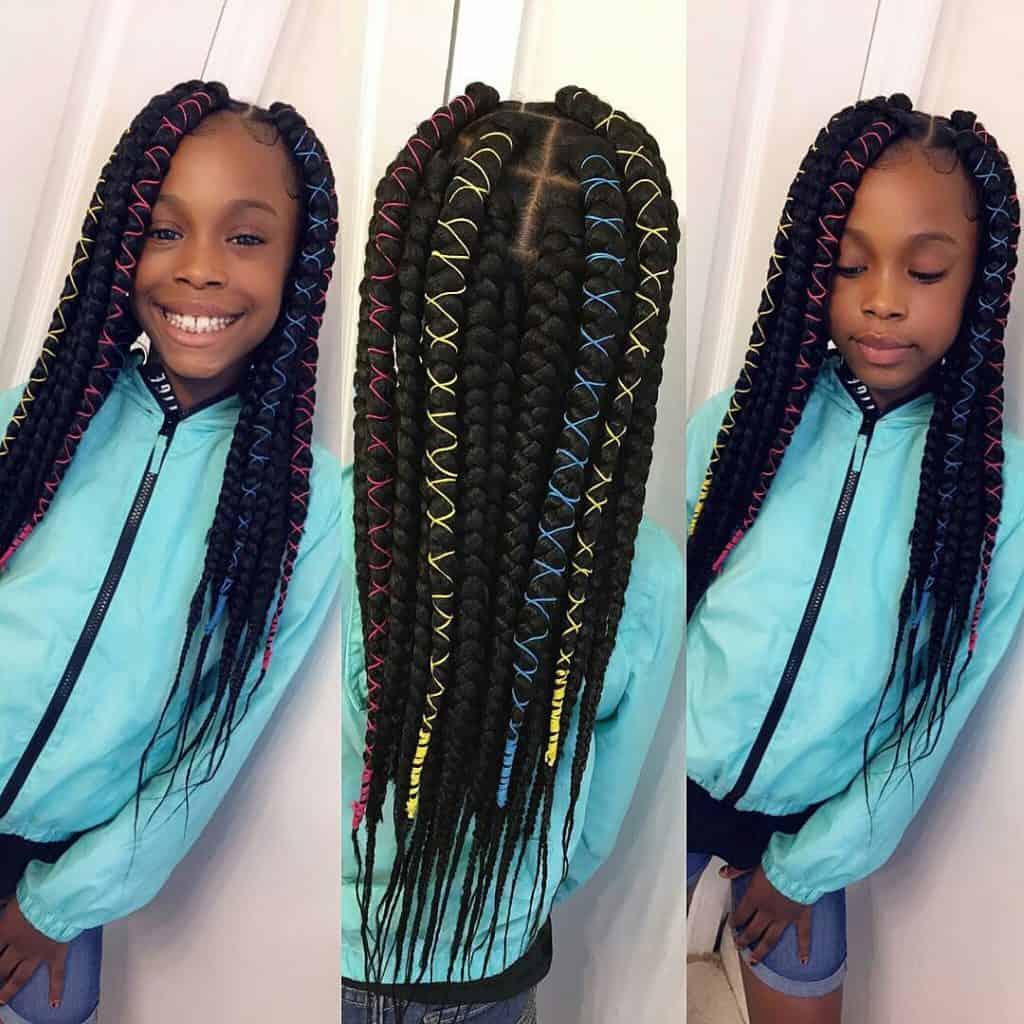 kids jumbo box braids
