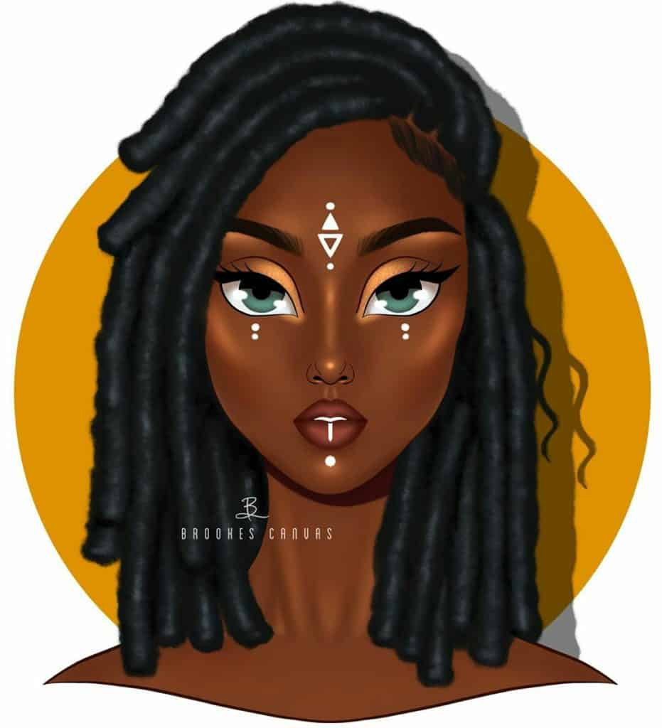 black girl illustration, black art