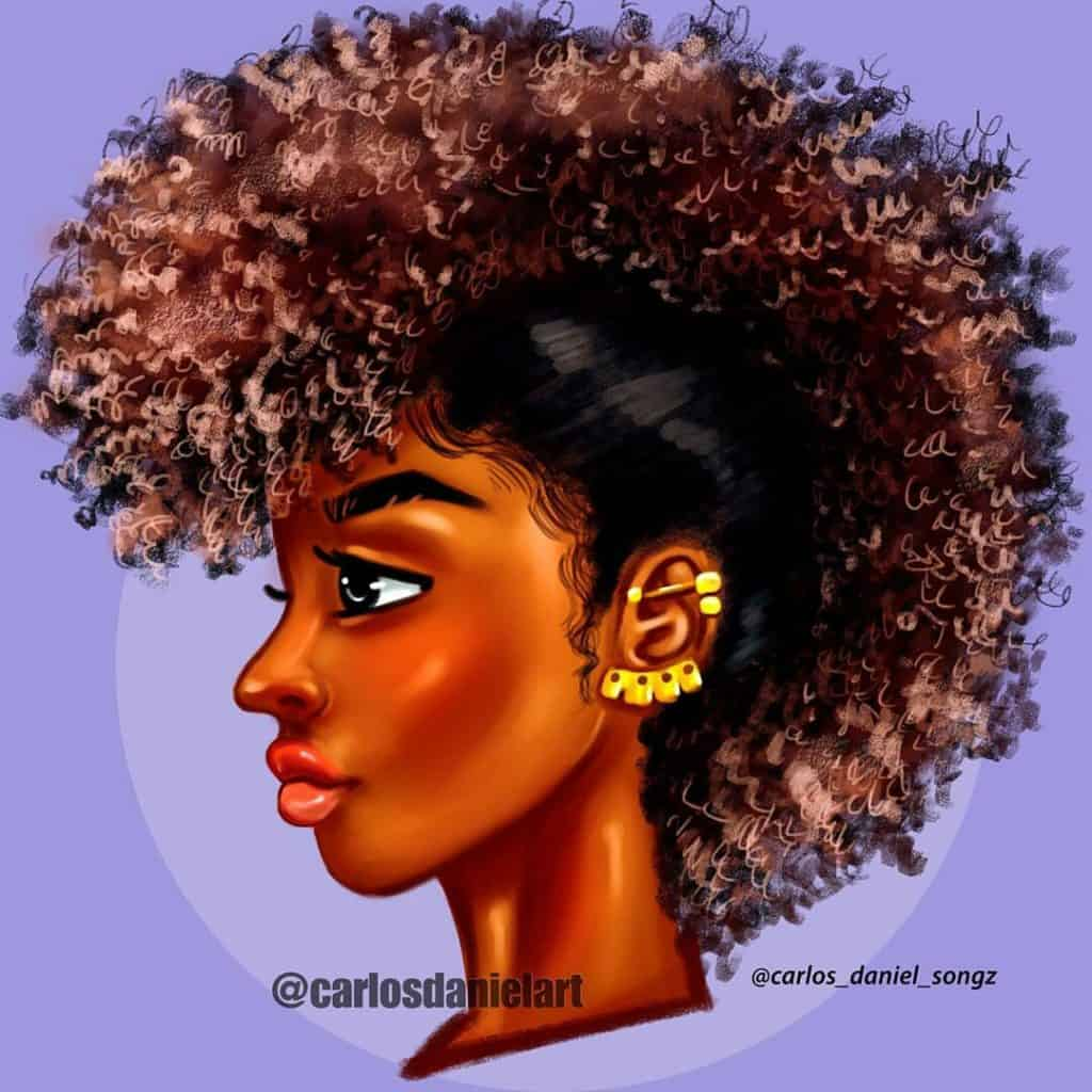 black girl illustrations, black art