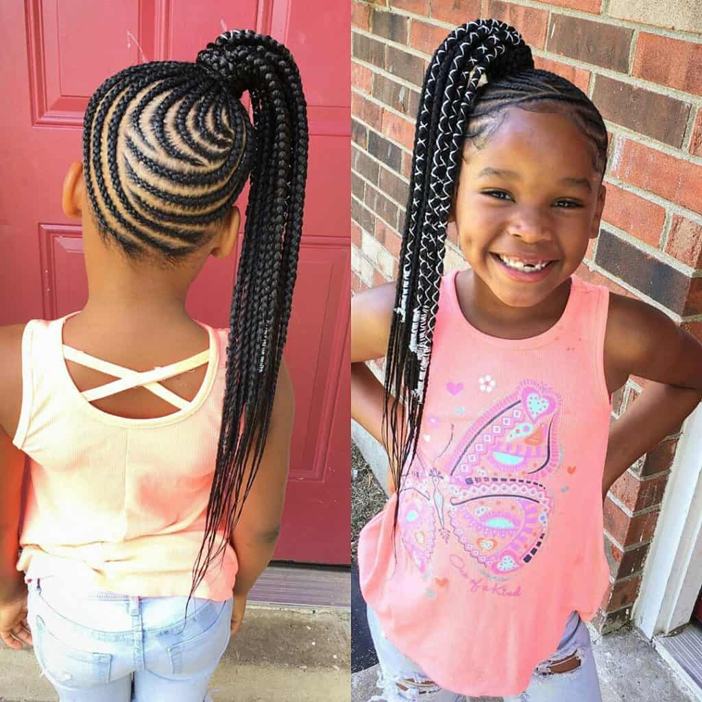 braided hairstyles for kids ponytail style for kids