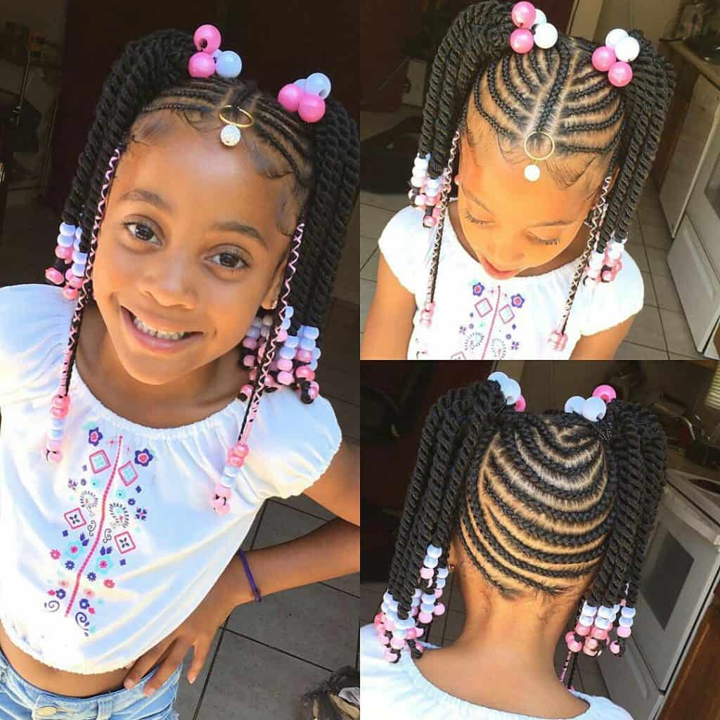 kids braided hairstyles with beads