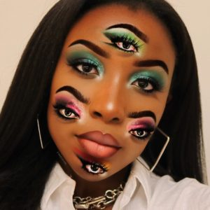 multiple eyes illusion makeup