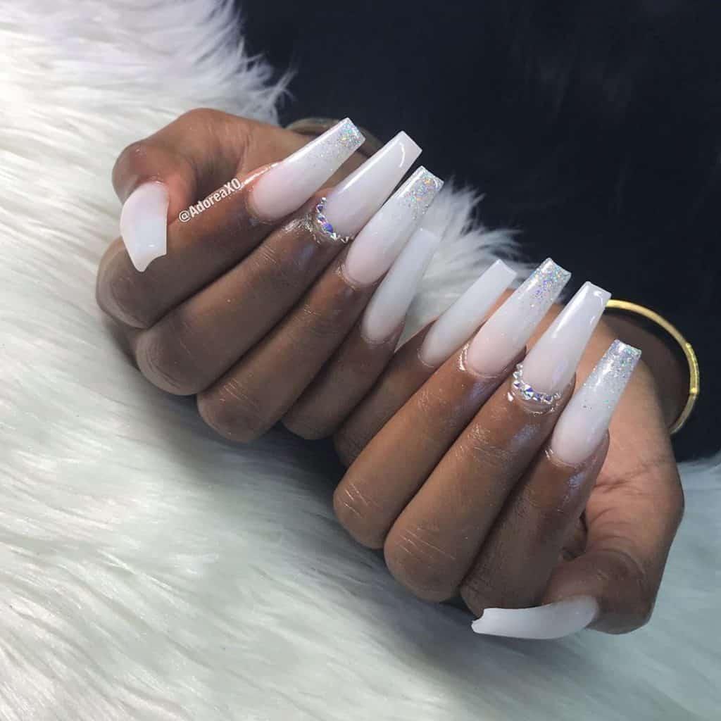 long white acrylic nails