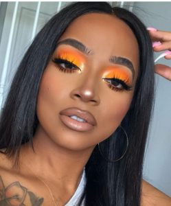 fall makeup 2019 orange eyeshadow