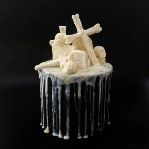 bones themed cake
