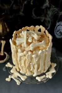 halloween bone cake