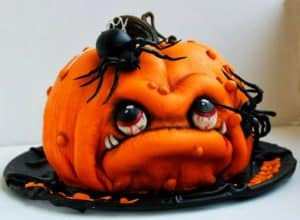 pumpkin monster cake