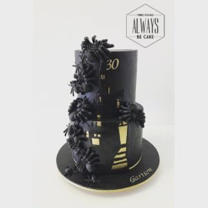 haunted house themed cake