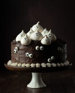 meringue ghost chocolate cake