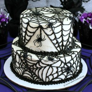 spider themed cake