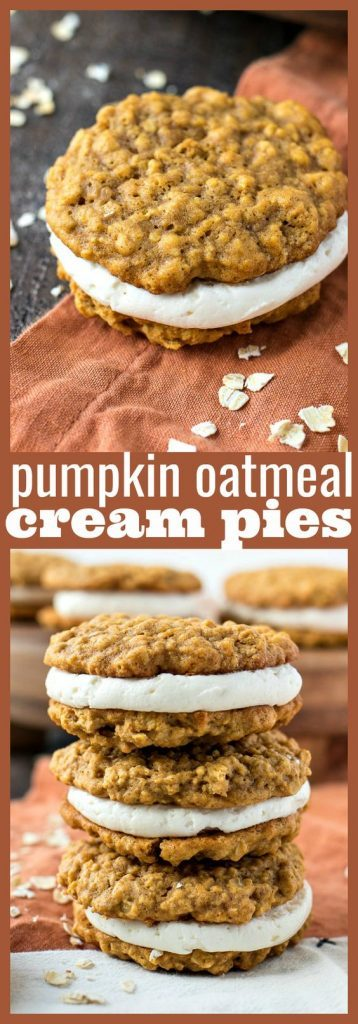 pumpkin oatmeal cream pies recipe