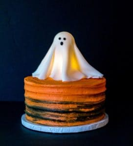 glowing ghost cake