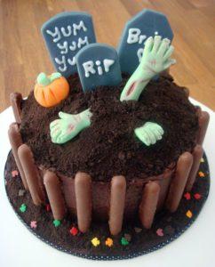 zombie halloween cake