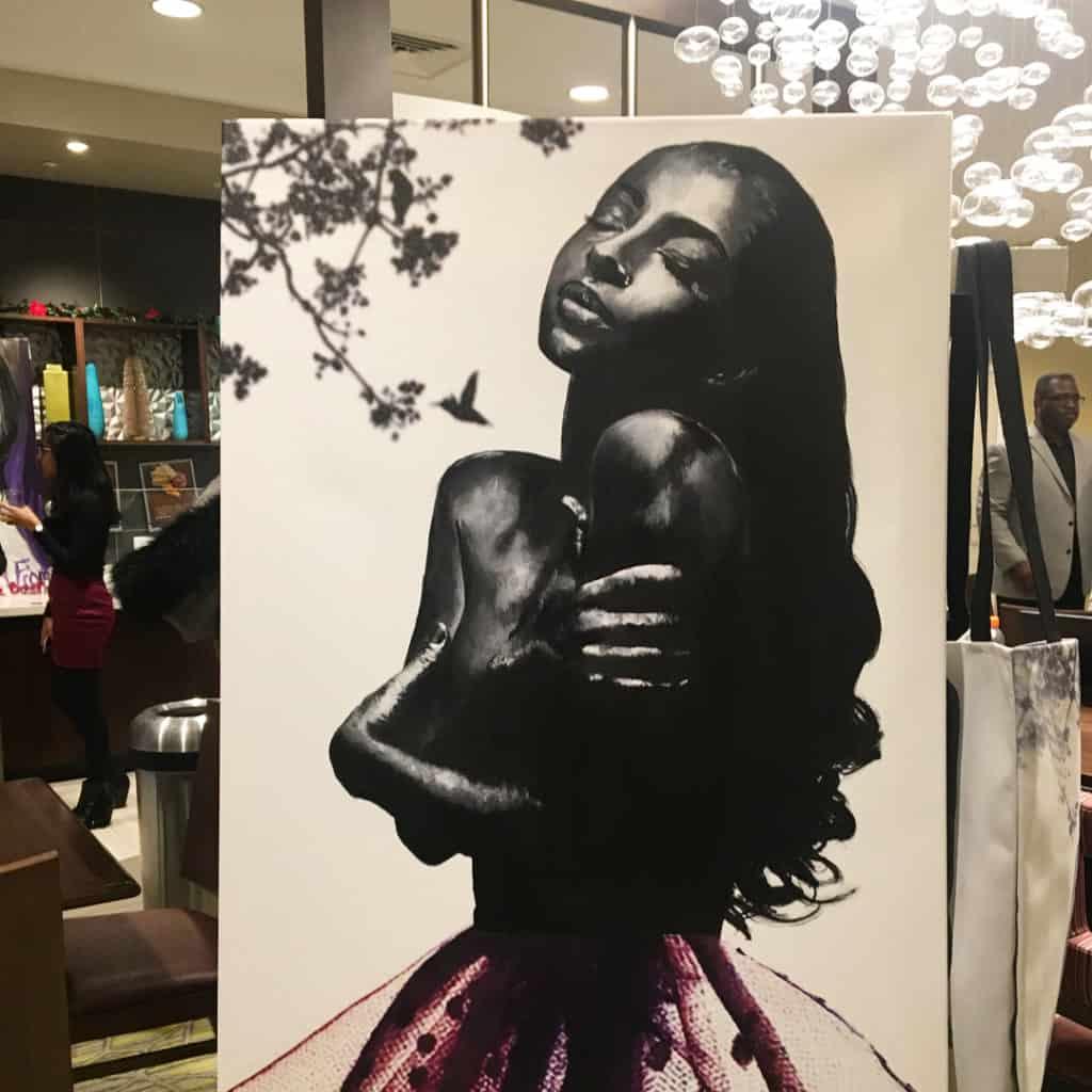 Chelsea Nicole painting