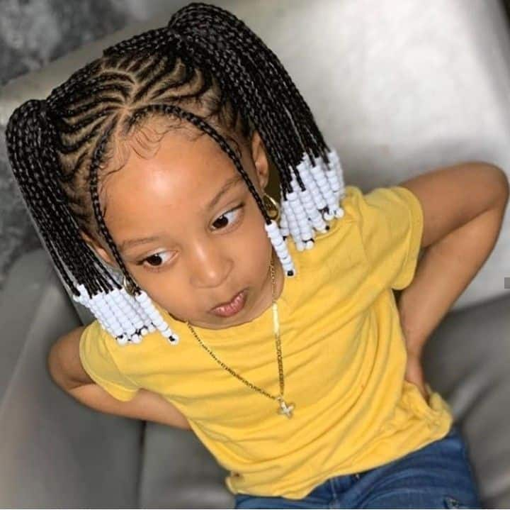 Super Braids For Kids 50 Kids Braids With Beads Hairstyles Natural Hairstyles Runnerswayorg