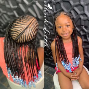 Braids for Kids- 50 Kids Braids with Beads Hairstyles